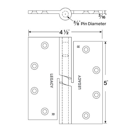 Legacy Acoustical Cam Lift Hinges 1359