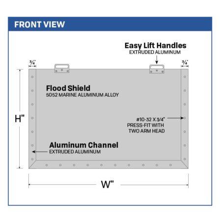 Legacy Interlocking Flood Barrier For Over-sized Doors 5028_5128