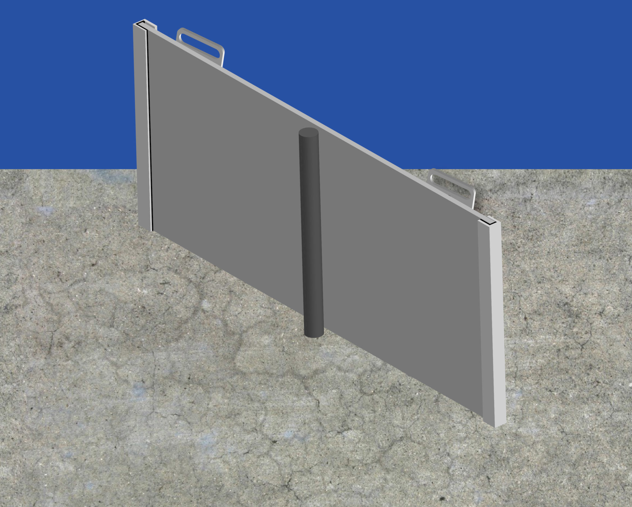 Protective Concrete Poles : Flood protection for your door barrier shields